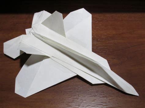Origami F 22 - 折り紙戦闘機 f 22 ラプター ver 3 noradの日記