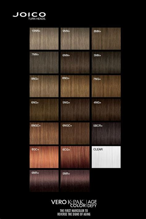 joico color chart joico vero k pak age defy colour palette color charts