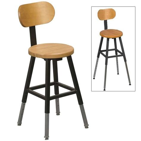 Lab Stool With Back by Balt Adjustable Height Lab Stool W Back Black Frame