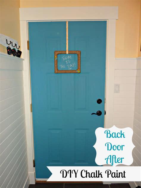 diy chalk paint door diy a more chalk paint our laundry room door