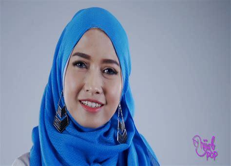 tutorial hijab dengan anting kreasi hijab simple dengan anting ala pandan sari