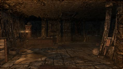 underground vault at skyrim nexus esbern s vault player home at skyrim nexus mods and