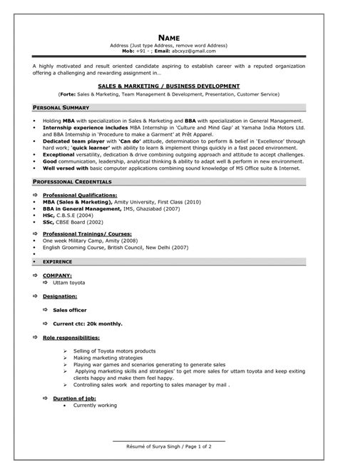 format sle of resume current resume styles template learnhowtoloseweight net