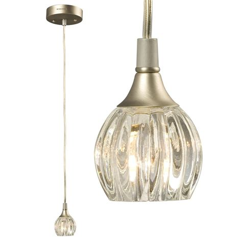 Glass Mini Pendant Lights Mini Pendant Pewter With Clear Glass 6x9yu Sescolite Lighting