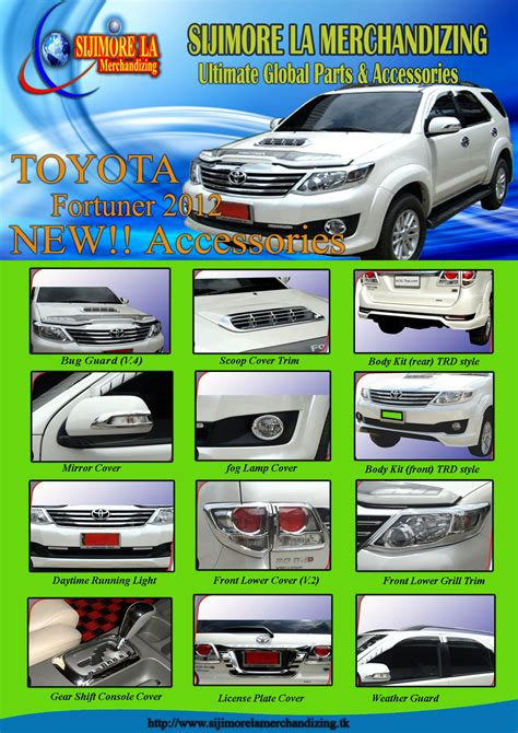 Toyota Parts Philippines Price List Official Toyota Accessories