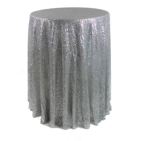 Sequin Table Cloths by 132 Sequin Tablecloth Premium Quality Silver