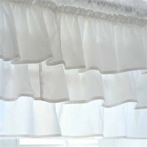 white ruffle blackout curtains white ruffle curtain