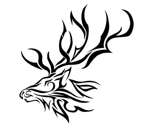 tribal elk tattoos elk tribal by dynasthai jpg 900 215 853 pixels ink