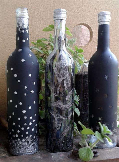 decorar frascos de vidrio facil botella de vidrio decorada con estrellas paso a paso youtube