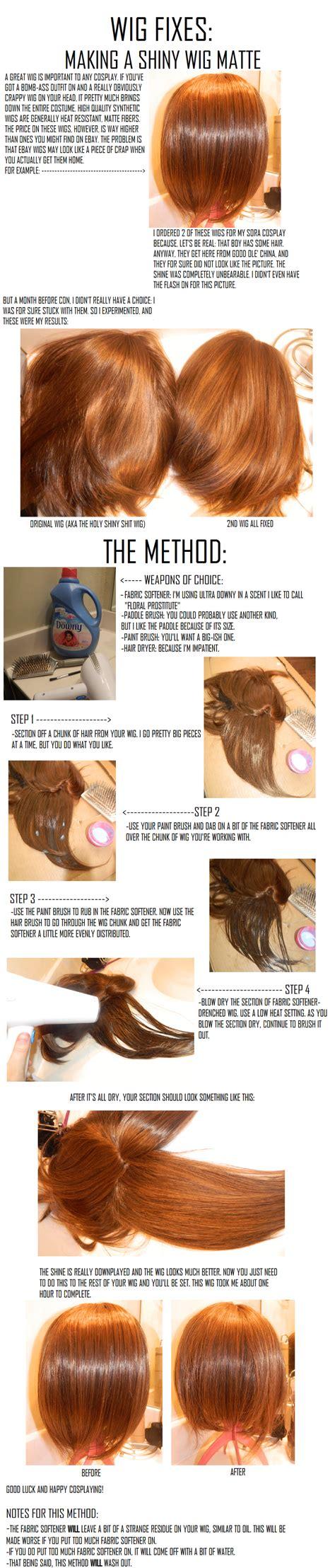 tutorial wig cosplay wigs taking away wig shine by cosplay tutorials