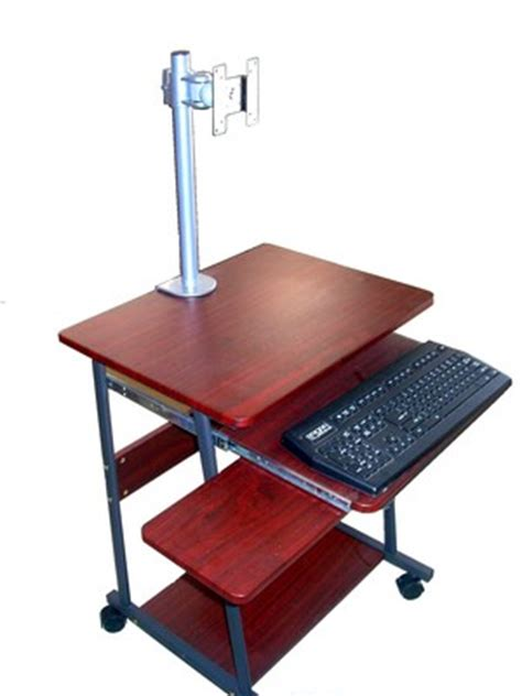 Laptop Mini Desk Sts5806 24 Quot Mini Computer And Laptop Desk Table With Wheels Oceanpointe Distributors Corporation