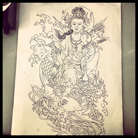 traditional japanese tattoo design by dazzbishop on deviantart