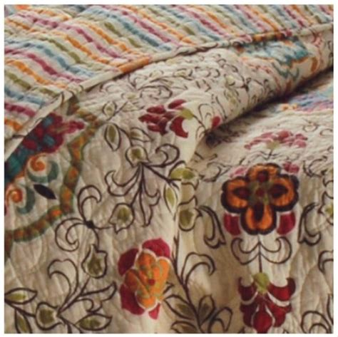 Quilt Esprit Tropical Esprit Spice Chocolate Boho Quilt Set