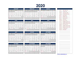 yearly calendar  australia holidays  printable templates