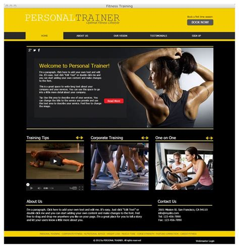 Personal Trainer Website Ready To Go Wix Website Templates Pinterest Trainers Personal Fitness Trainer Website Templates