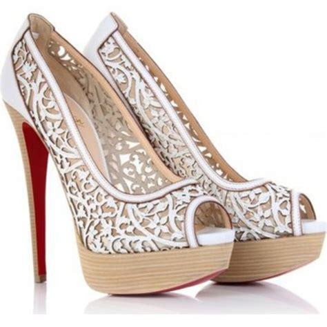 lace pattern heels shoes wedding lace pattern floral pattern wood heels