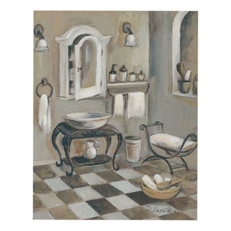 french bathroom wall art black and white tiled french bathroom panel wall art zazzle