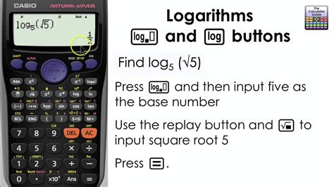 calculator ln logarithms how to find the log of any base on the