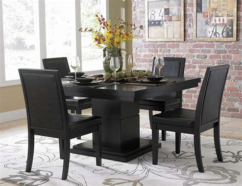 black modern dining room sets homelegance 5235 54 cicero dining table set