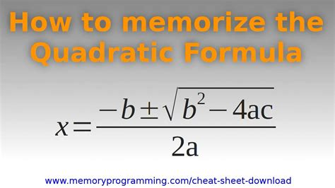 how to memorize formulas in mathematics book 2 trigonometry books how to memorize the quadratic formula