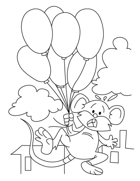 mickey mouse balloon coloring pages kids coloring