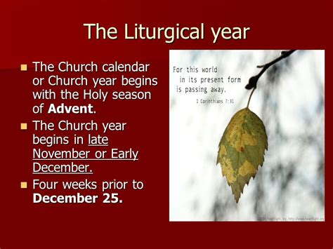 the holy season of advent the liturgical year ppt