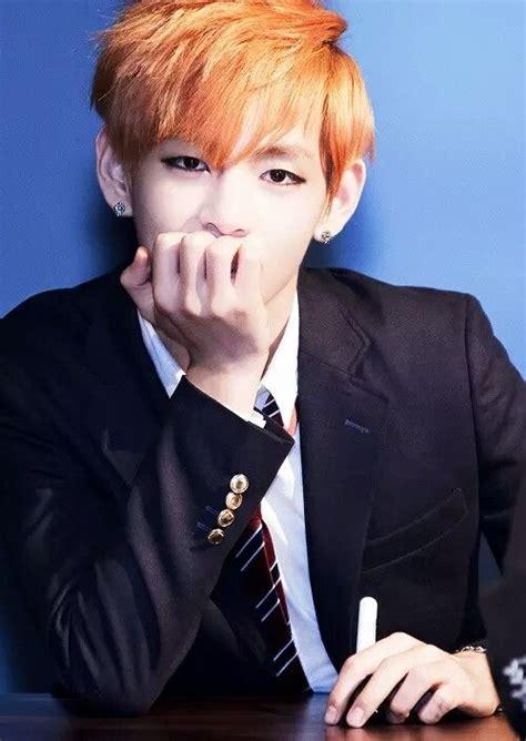 kim taehyung orange hair kim taehyung orange hair vtaehyung t bts