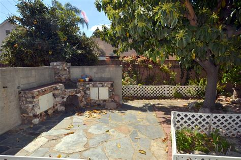 backyard bbq area traditional home for sale in northwest glendale ca