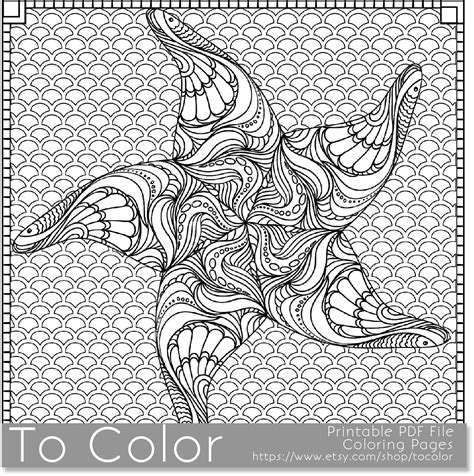 coloring page for adults pdf printable starfish coloring page for adults pdf jpg