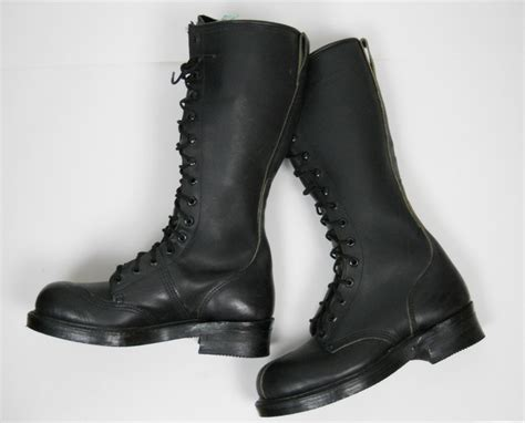 vtg knee high lace up boots steel toe heavy duty by