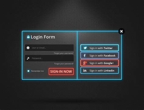 templates for website with login page login form templates with sources in psd idevie