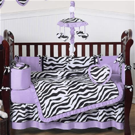 purple funky zebra baby bedding 9 pc crib set only 189 99
