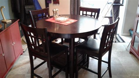 kitchen table with 4 chairs 42 inch with 18 inch leaf