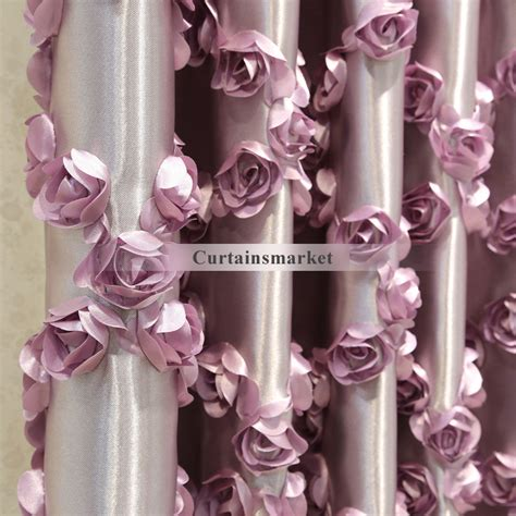 romantic curtains and drapes luxury curtains and drapes in purple color in romantic way