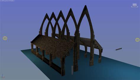 boat house harry potter hogwarts boathouse polycount
