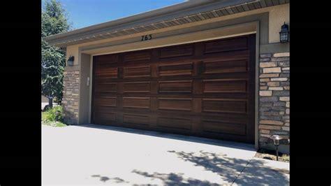 wood look garage doors home depot