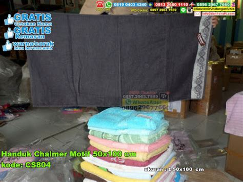 Handuk Chalmer 30 70 handuk chalmer motif 50 215 100 cm souvenir pernikahan