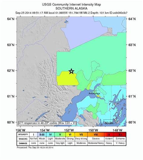 usgs earthquake map usa powerful 6 2 magnitude earthquake hits alaska ny daily news