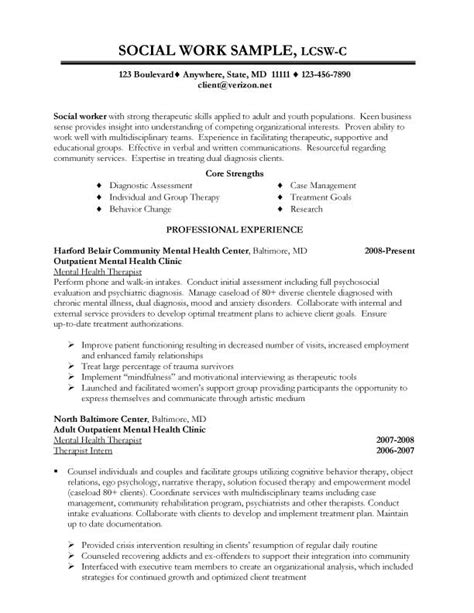 Professional Resume Example: Social Work Resume Format