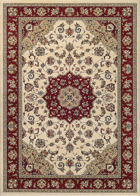 Ruby Rugs by Couristan Traditions 9657 6515 Namur Ivory Ruby Rug