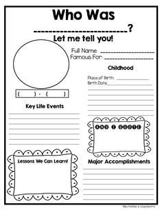 biography report form organizer biography report form organizer free printable