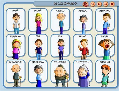 imagenes familia ingles la familia ficha de vocabulario mesa 1 pinterest
