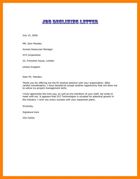 Offer Letter Sle Business Development business letter sle offer 28 images offer letter