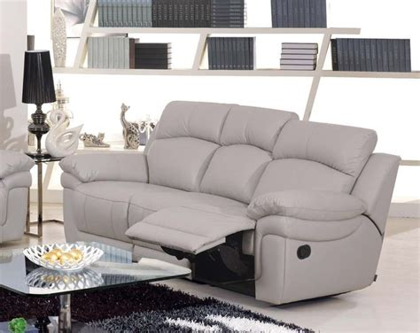 Contemporary Sofa Recliner Cristiana Italian Leather Reclining Sofa