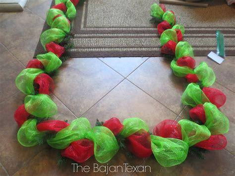 how to add mesh garland christmas tree diy garland using deco mesh decor series the bajan texan