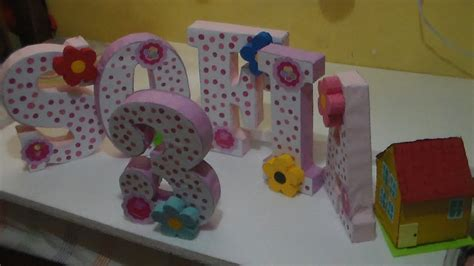 decoracion de letras en carton 3d como hacer letras 3d decoracion youtube