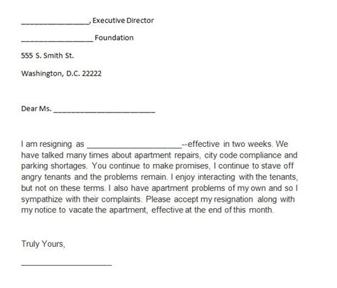 40 two weeks notice letters resignation letter templates free template downloads