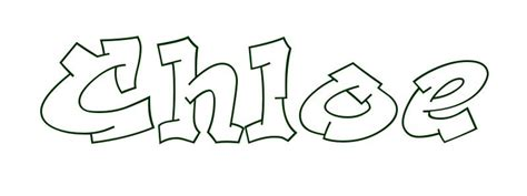 Ordinary Graffiti Coloring Pages #2: Coloring-page-first-name-chloe.jpg