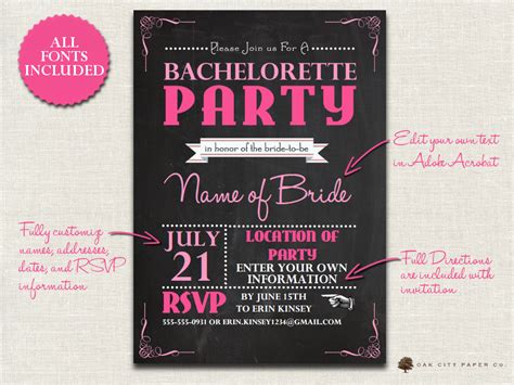 bachelorette invitation template bachelorette invitation chalkboard themed bachelorette