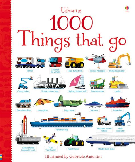 1000 things that go at usborne children s books